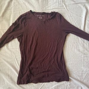 American Eagle Red Long-Sleeve